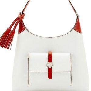 Dooney & Bourke Cambridge White Pebble Leather Bag